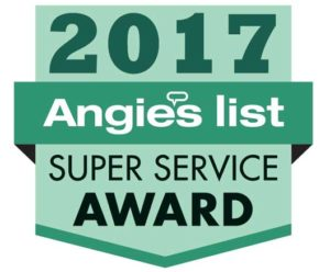 Bieg Plumbing Earns Esteemed 2017 Angie's List Super Service Award