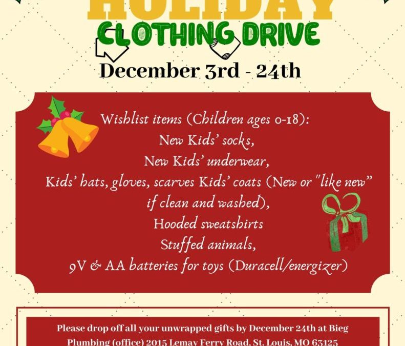 Bieg Plumbing 2nd Annual Clothing Drive