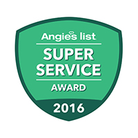Bieg Plumbing Company Earns Esteemed 2016 Angie's List 'Super Service Award'